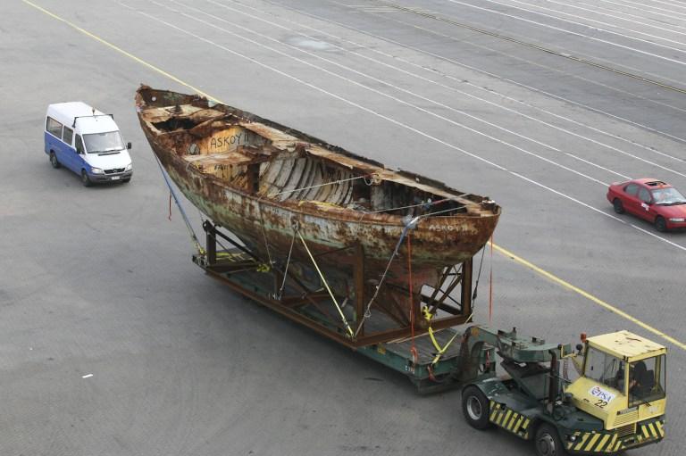 En 2008, la coque arrive au port de Anvers