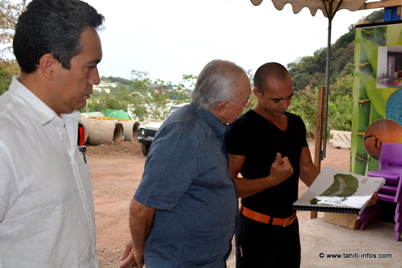 Marcel Tuihani, Gaston Flosse et Cyril-Claude Dardel