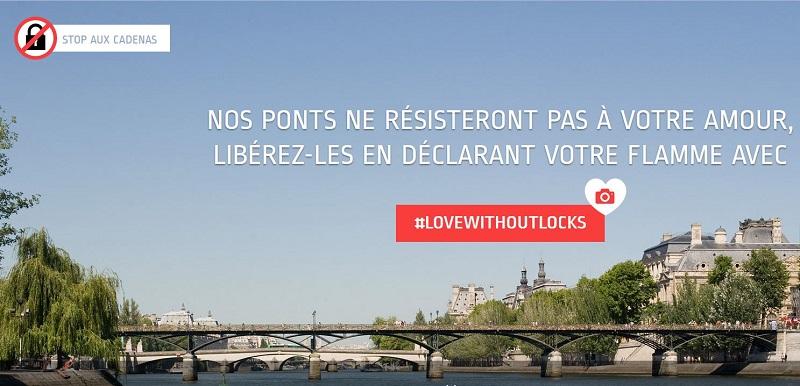 """Paris veut remplacer les """"cadenas d'amour"""" par des selfies"""
