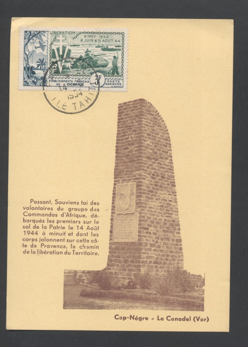 Il y a 70 ans, les Tahitiens du bataillon d'infanterie de marine et de Pacifique débarquaient à Cavalaire.