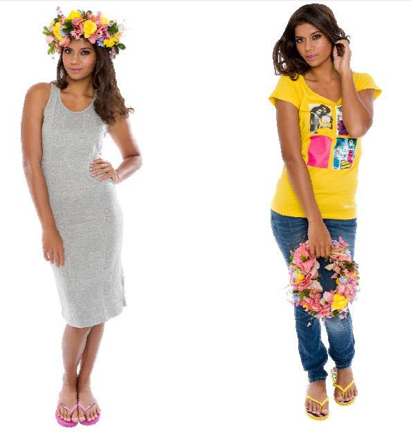 La nouvelle gamme de Tee shirts et de tongs de Tahitian Move