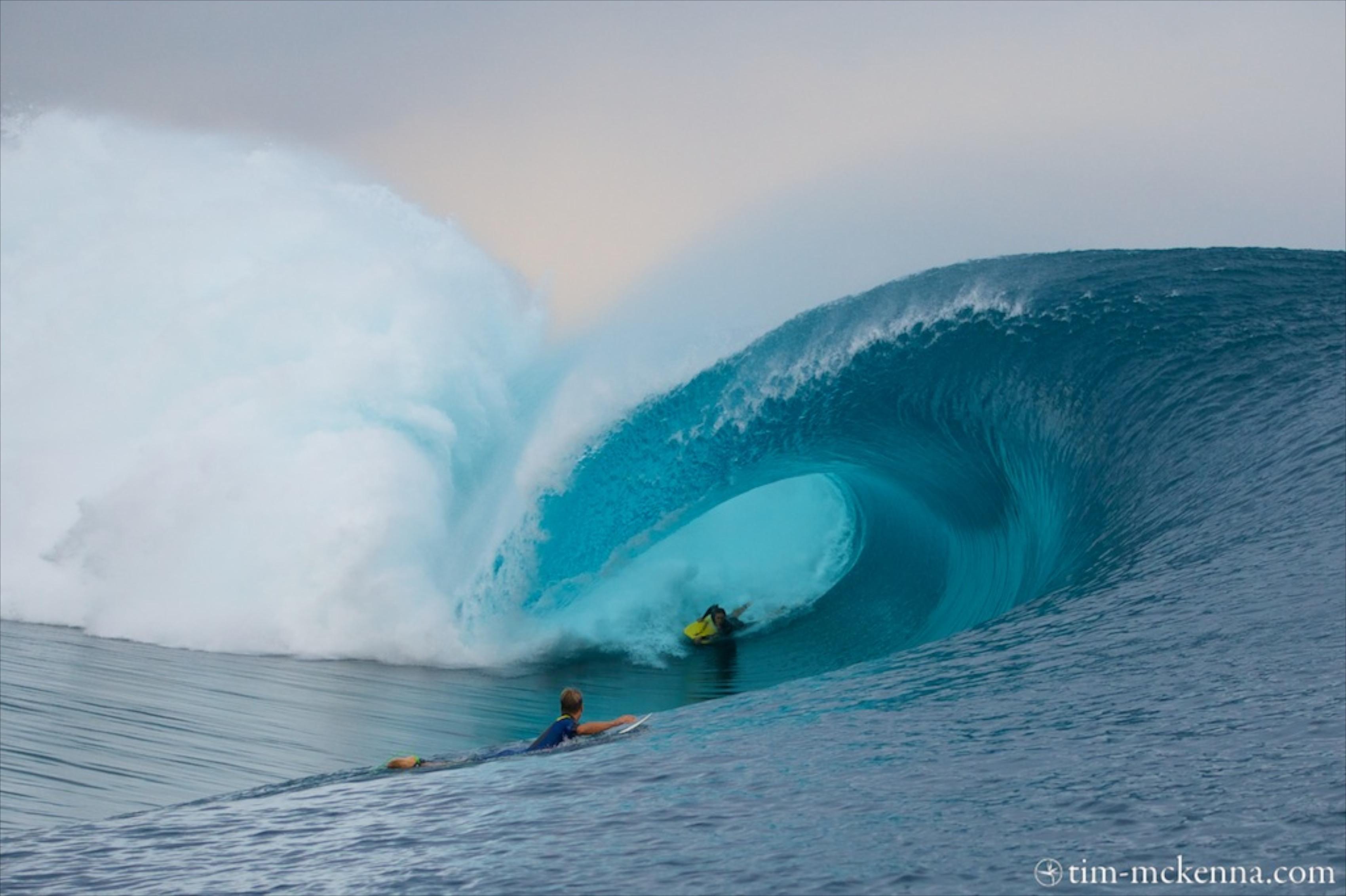 La vague qui aurait pu lui prendre la vie
