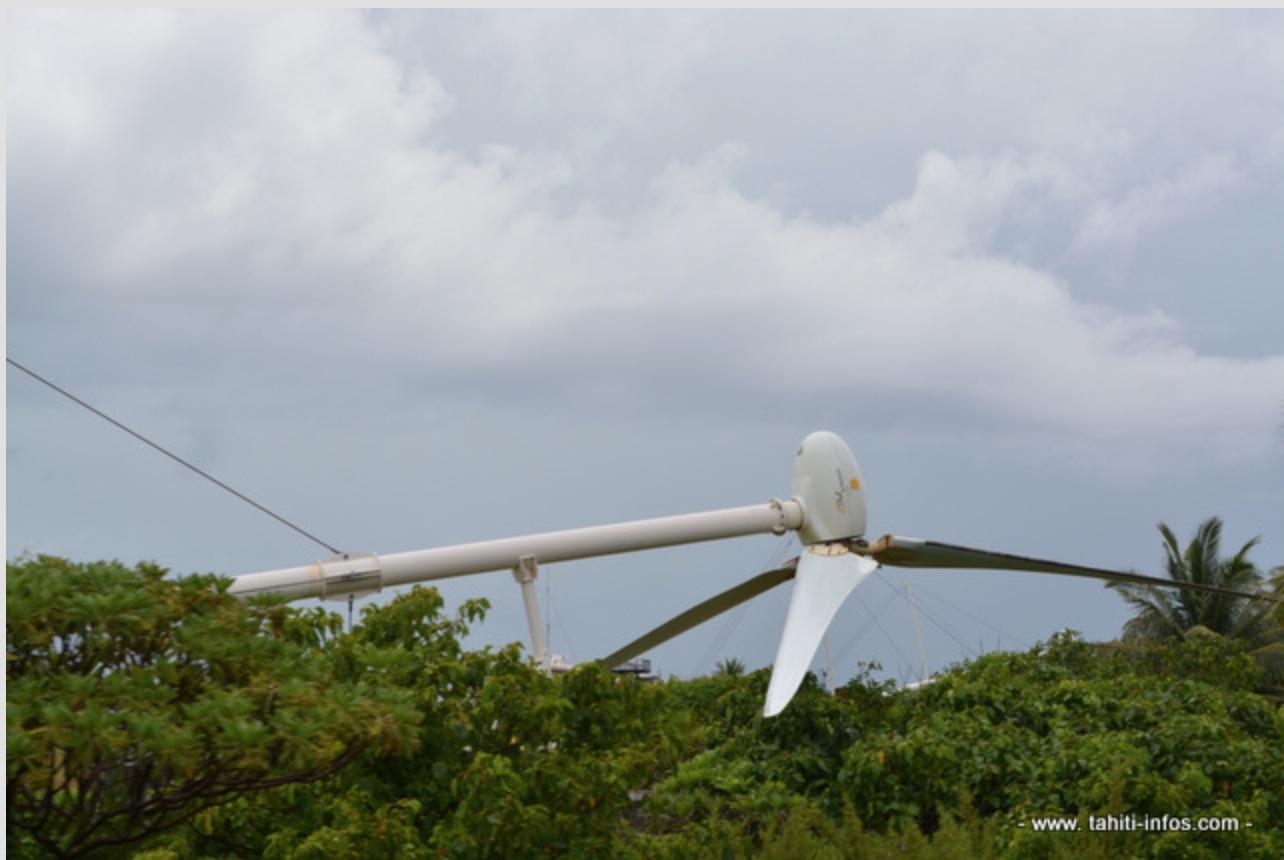"""Nouvelle perfusion financière pour le """"champ d'éoliennes"""" de Makemo"""