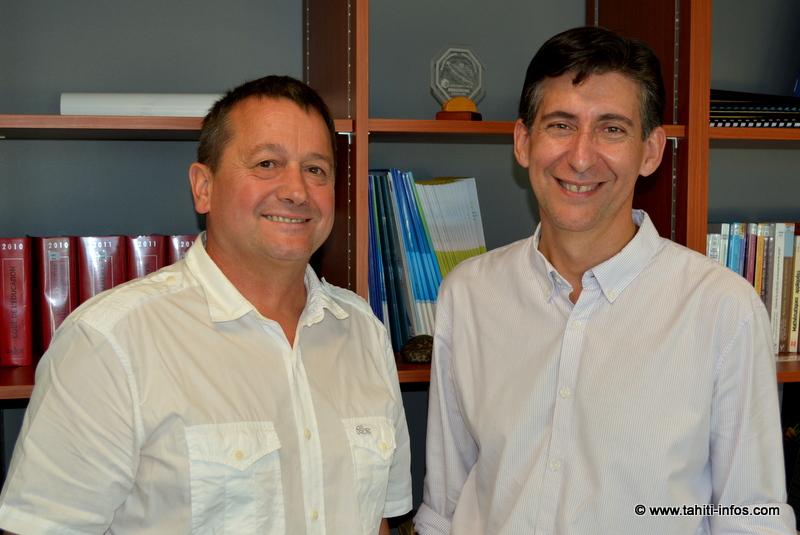 Charles Dubois, directeur du CNAM, et Christophe Gomez, directeur du pôle formation à la CCISM