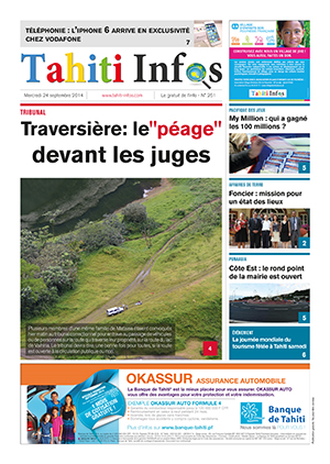 TAHITI INFOS N° 261 du 24 septembre 2014