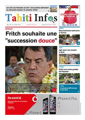 TAHITI INFOS N°266 du 1er octobre 2014
