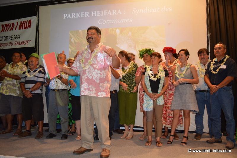 Le nouveau Comité Directeur de la Confédération A Tia I Mua et son nouveau Secrétaire Général Heifara Parker