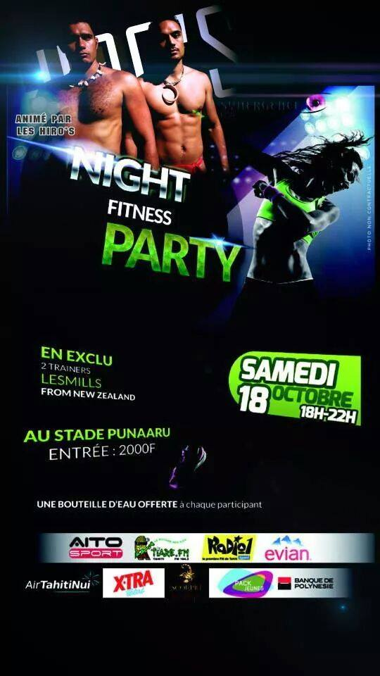Fitness – 'Night Fitness Party' : 4 heures d'action avec des 'coachs' de Nouvelle Zélande !