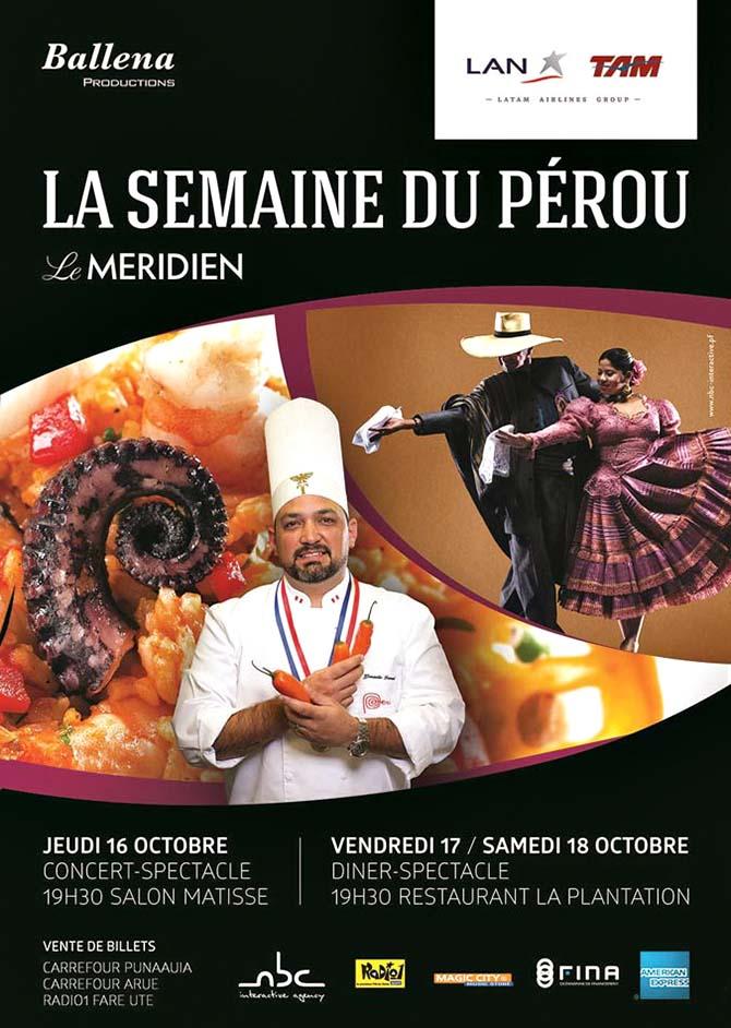 Ce week-end c'est le Pérou au Méridien