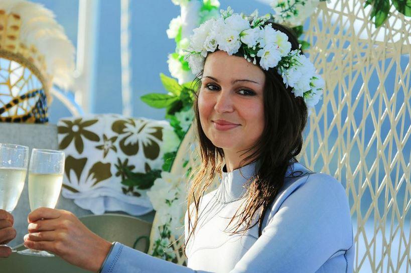 Et la jolie mariée en blanc