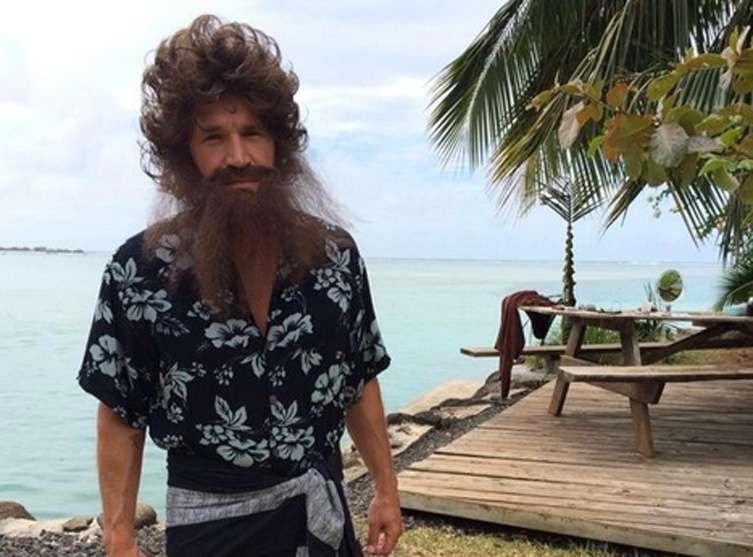 Benjamin Robinson Castaldi Crusoe à Moorea pour la 2e saison de Tahiti Quest.