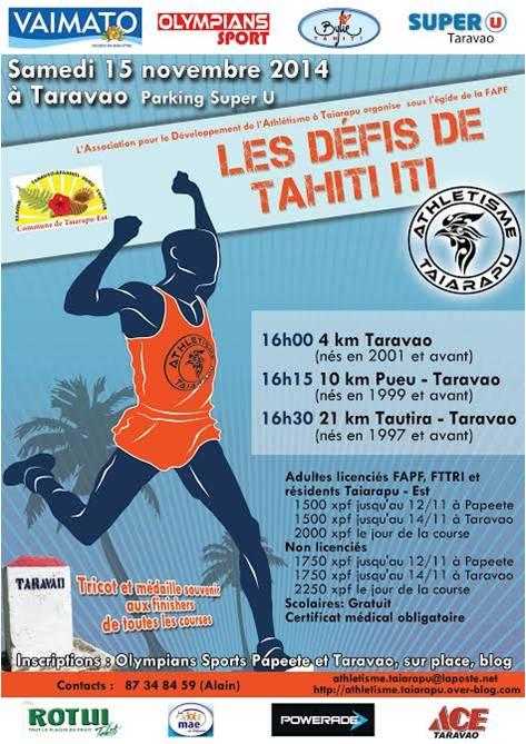 Les Défis de Tahiti Iti le 15 novembre à Taravao