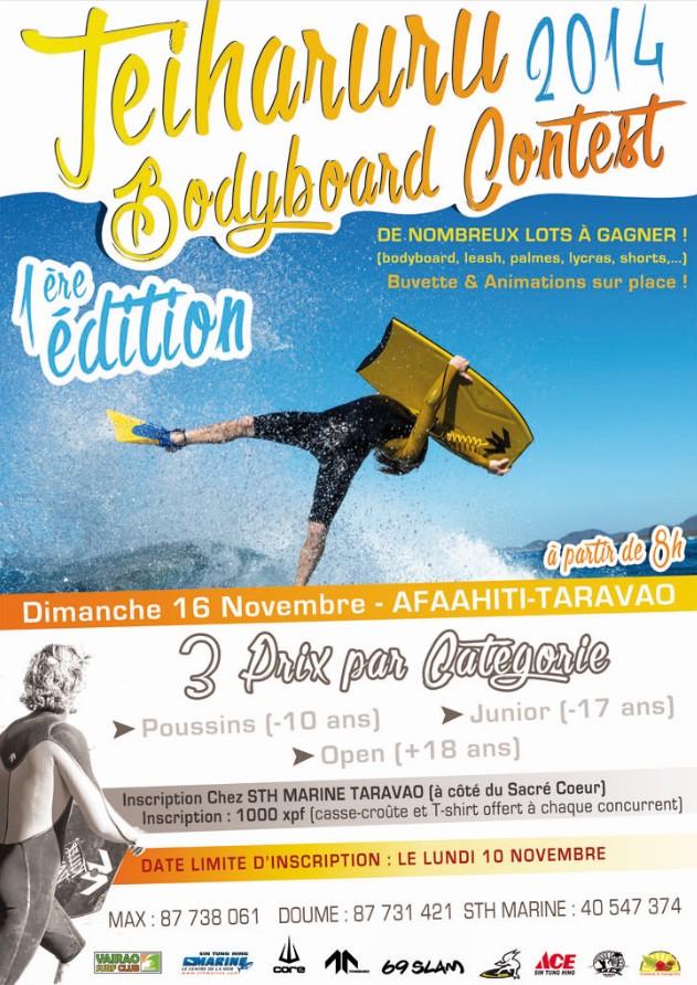 Venez nombreux participer à la Taiharuru Bodyboard Contest, 1ère édition !!