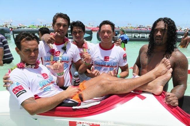 Malgré une certaine déception, les grand champions de Shell se sont montrés disponibles pour une photo