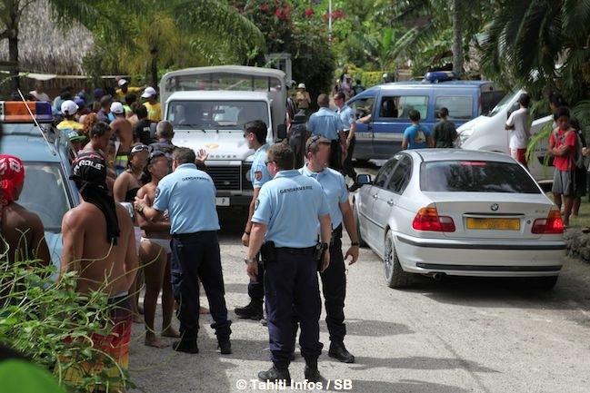 Les forces de l'ordre interviennent comme chaque année pour des bagarres à Matira