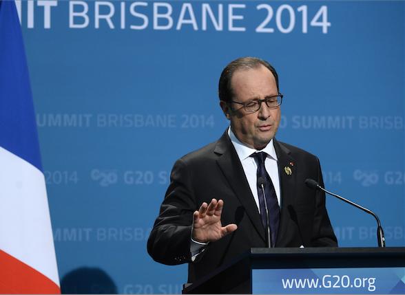 Hollande à Sydney pour la première visite officielle d'un président français en Australie