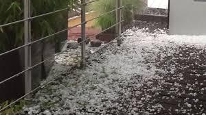 Déluge de grêle à Brisbane