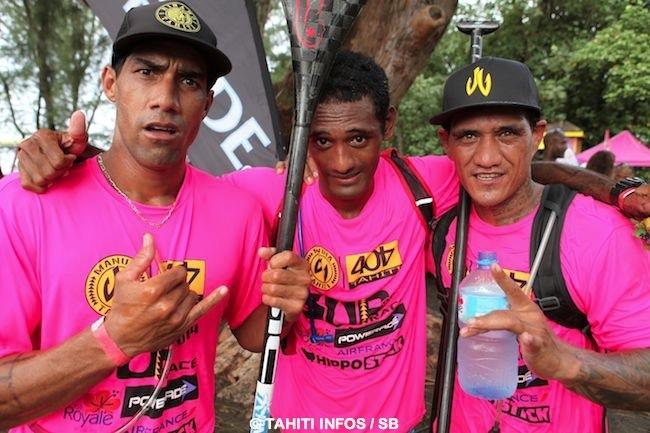 Georges Cronstaedt, Niuhiti BUillard et Bruno Tauhiro, trois grand champions