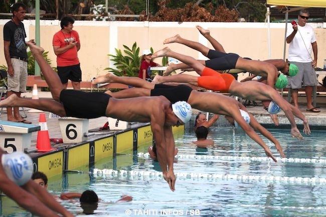 Le départ du 100 m nage libre, la discipline reine