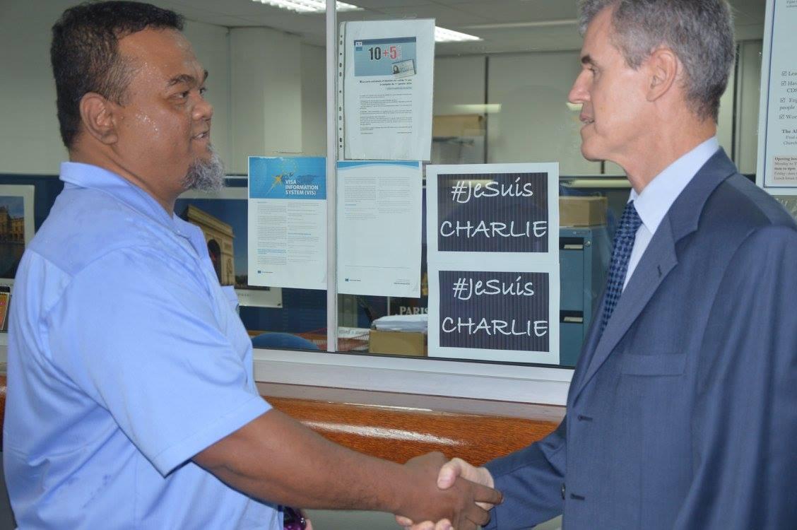 A l'ambassade de France à Fidji
