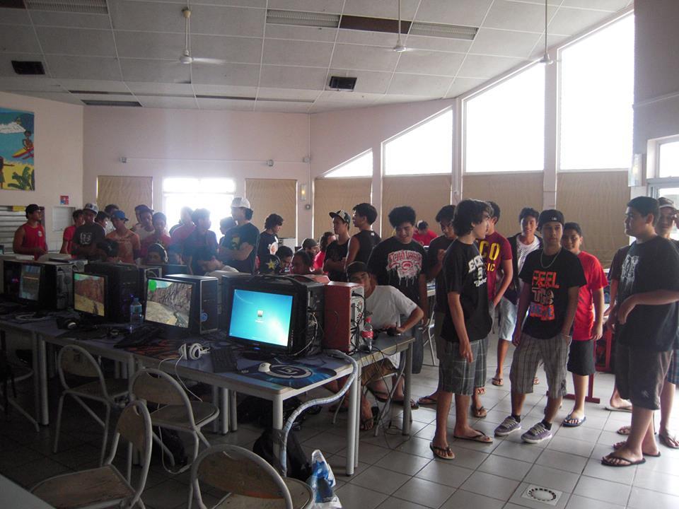 Une LAN de Tahiti Nui Arena, une association de gamers du fenua