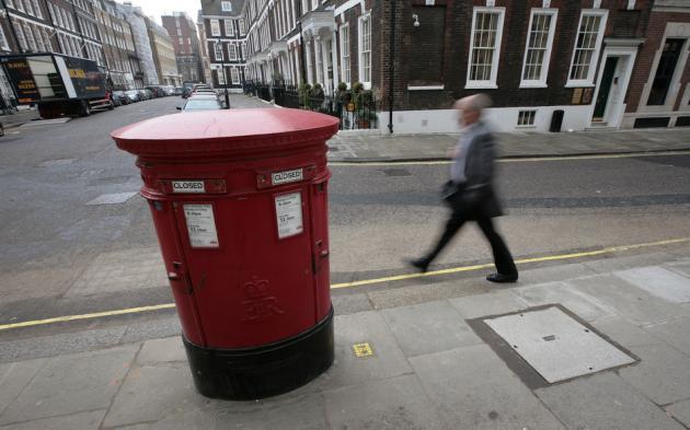 Une boîte aux lettres britannique (image d'illustration)