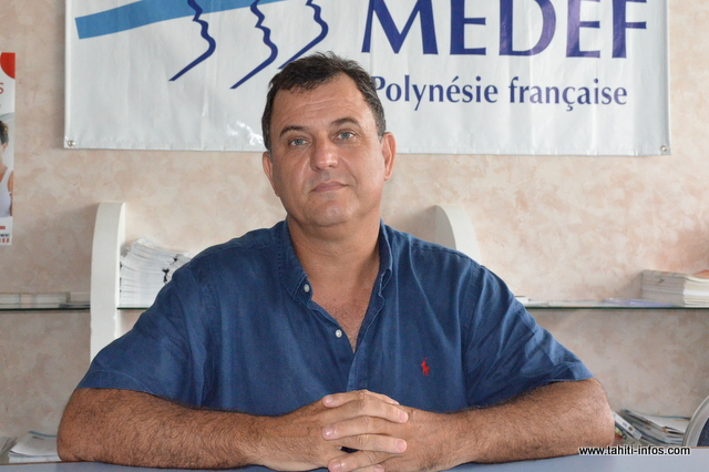 Olivier Kressmann, président du Medef-PF