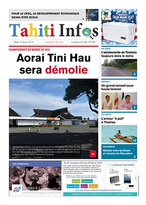 TAHITI INFOS N° 352 du 10 février 2015