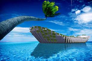 projet d'hotel flottant dans le sud de l'inde