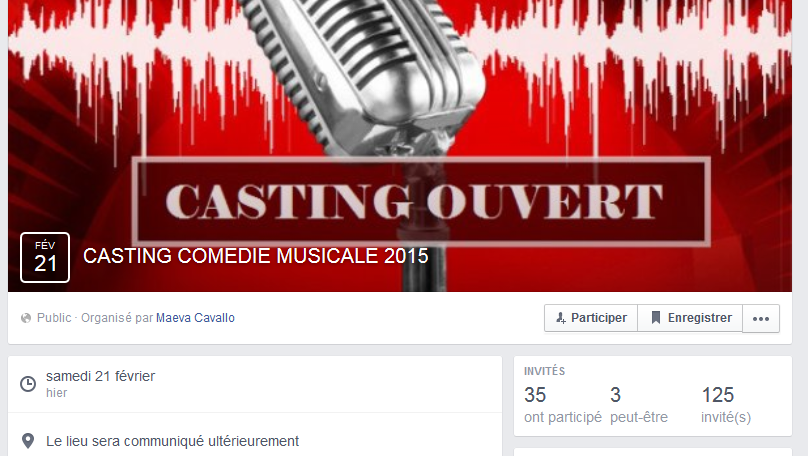 Tentez votre chance au casting pour une comédie musicale