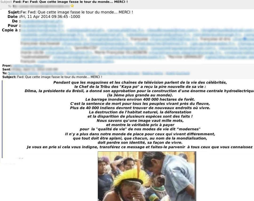 37 adresses électroniques visibles figuraient dans ce message. Parfois il y en a beaucoup plus  une véritable aubaine pour les spammeurs toujours à la recherche de nouvelles adresses mail à polluer.