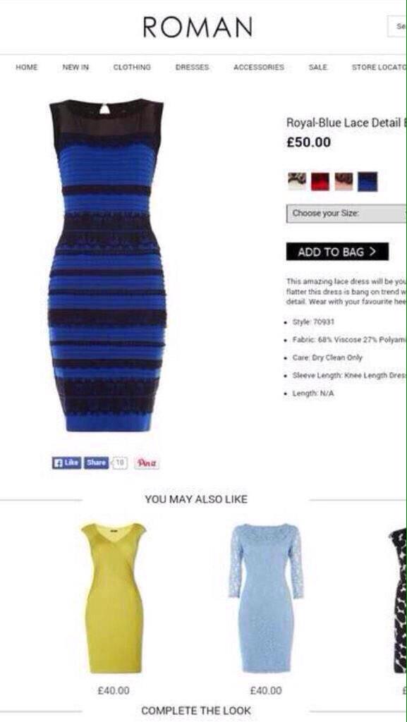 Et vous, vous la voyez de quelles couleurs, cette robe ?