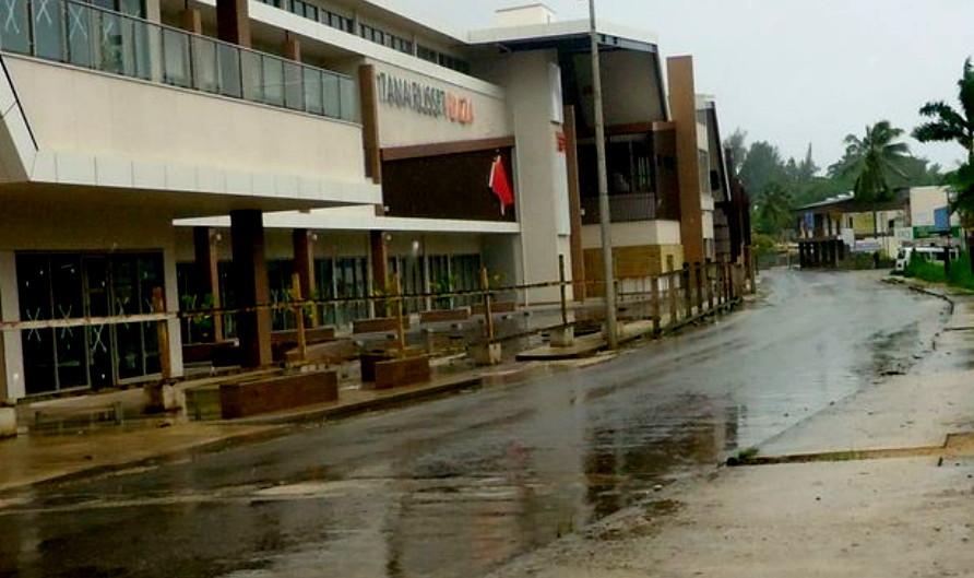 Port-Vila, ville morte à l'approche du cyclone PAM