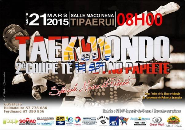Taekwondo : Te Ui Api no Papeete organise sa deuxième coupe ce samedi!