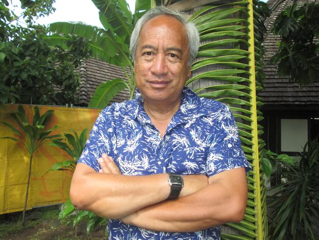 Witi Ihimaera était à Tahiti en février 2014, comme membre du jury du Fifo.