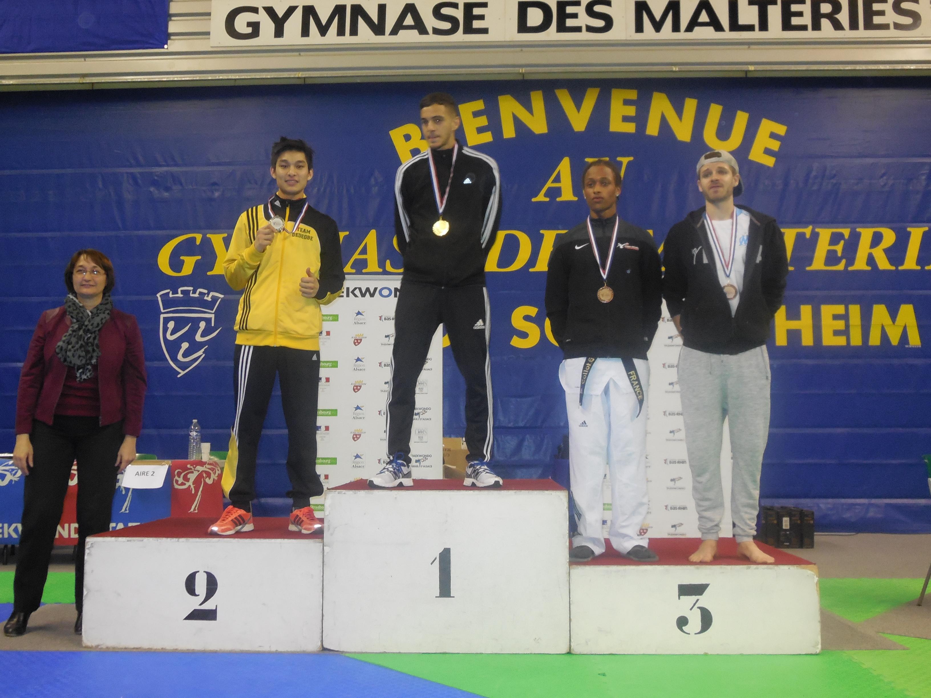 Taekwondo : Teddy Teng Médaille d'Argent à l'Open Internationale d'Alsace 2015