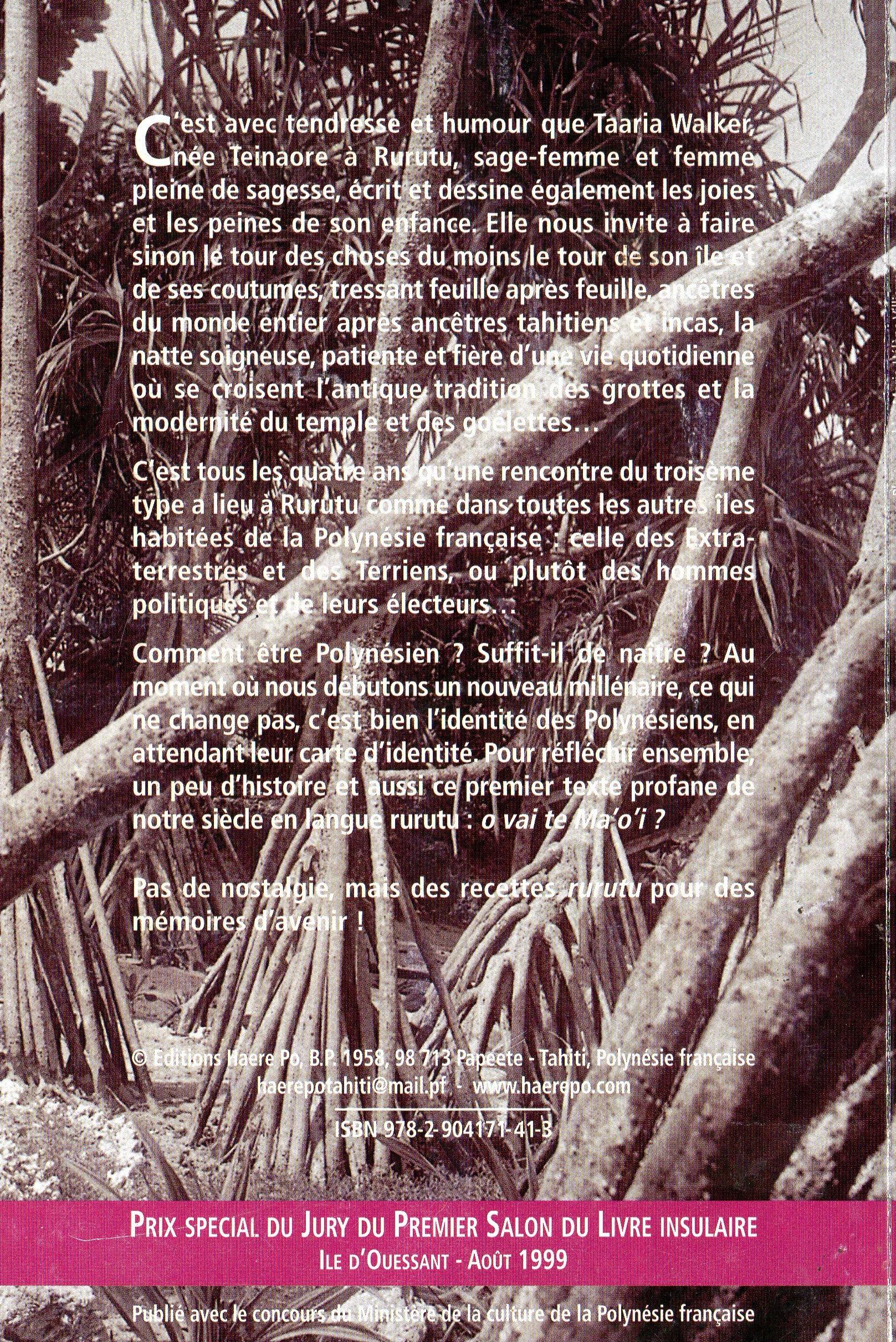 "Taaria Walker, ""la Femme Rurutu porteuse de savoirs"""
