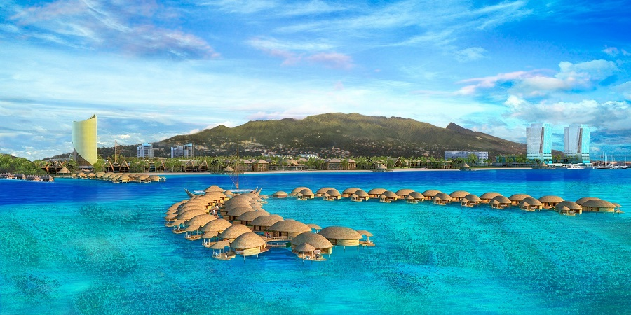 Le projet Tahiti Mahana Beach vu par le Group 70 international