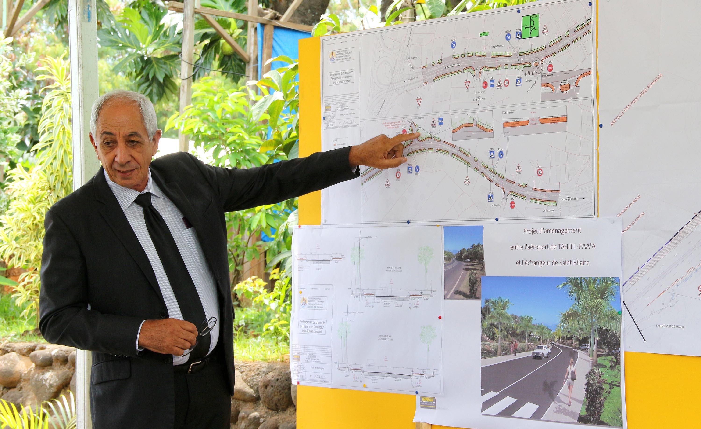 Faa'a : la  route reliant l'aéroport à l'échangeur de la RDO inaugurée