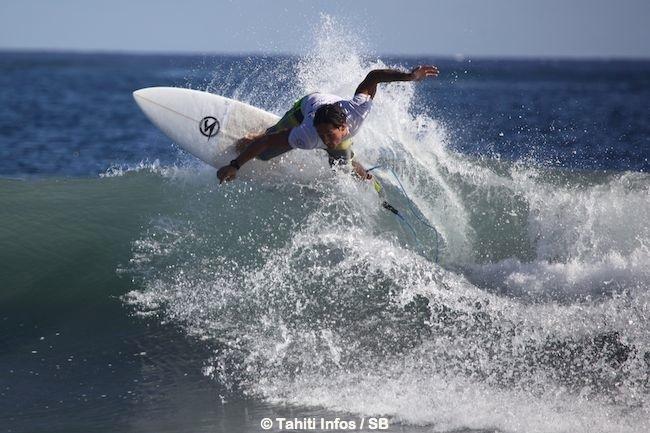 Taumata a pris sa revanche sur Steven qu'il avait affronté lors du Tahiti Surf Tour