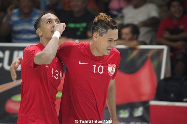 Raiarii Manea a marqué le but de l'égalisation à 4-4