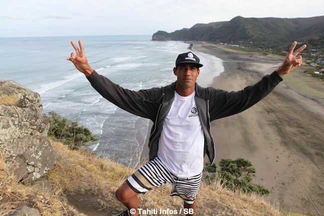 Georges, ici en NZ, parcours le monde pour représenter son île, Tahiti.