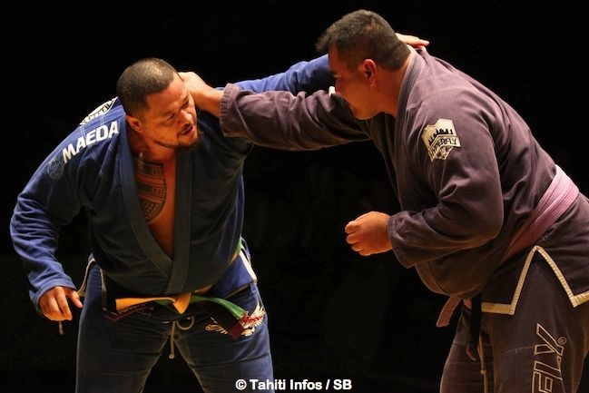 Marere Coquil n'a pas réussi à faire tomber la 'montagne' Hiro lemaire mais il gagne le combat