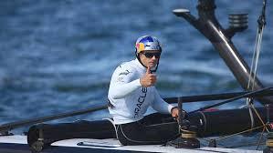 Record du Pacifique - L'Australien Jimmy Spithill à bord de L'Hydroptère