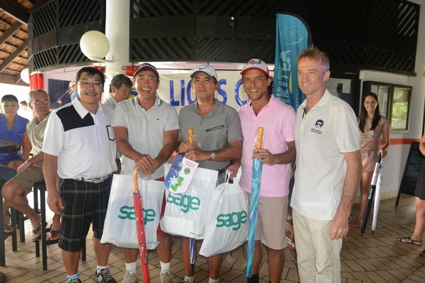 Golf « Coeur de Lions » : Marama Vahirua, Christian Lausan et Gilles Loussan vainqueurs en net