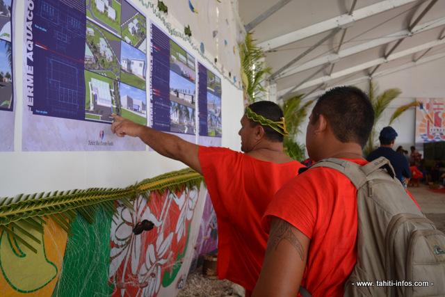 La population de Hao est venue découvrir les plans de la ferme aquacole ce mercredi lors de la cérémonie d'inauguration de Tahiti Nui Ocean Foods.