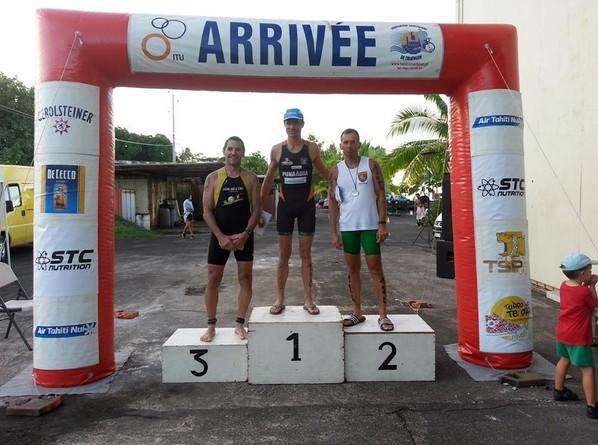 """Triathlon """"championnat de Polynésie"""" : Frédéric Tête au top"""