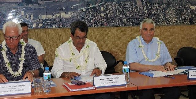 Les représentants du Pays ont retrouvé leurs sièges au sein du conseil d'administration d'Aéroport de Tahiti.