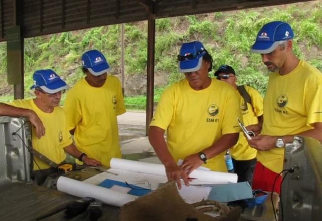 Les sauveteurs bénévoles de la station de sauvetage 01 de Hiva Oa (photo FEPSM).