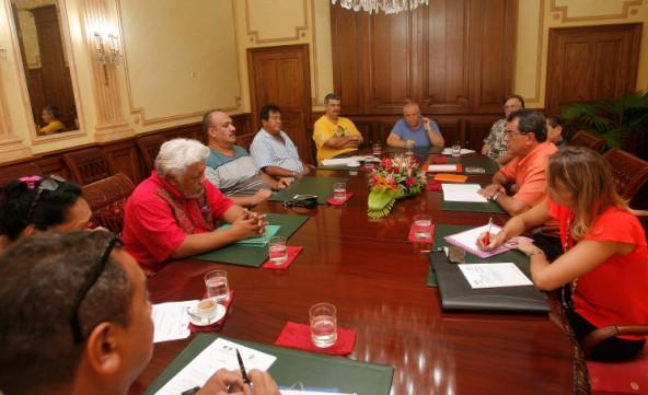 Réunion d'information sur le contrat de projet avec le syndicat intercommunal des Tuamotu-Gambier